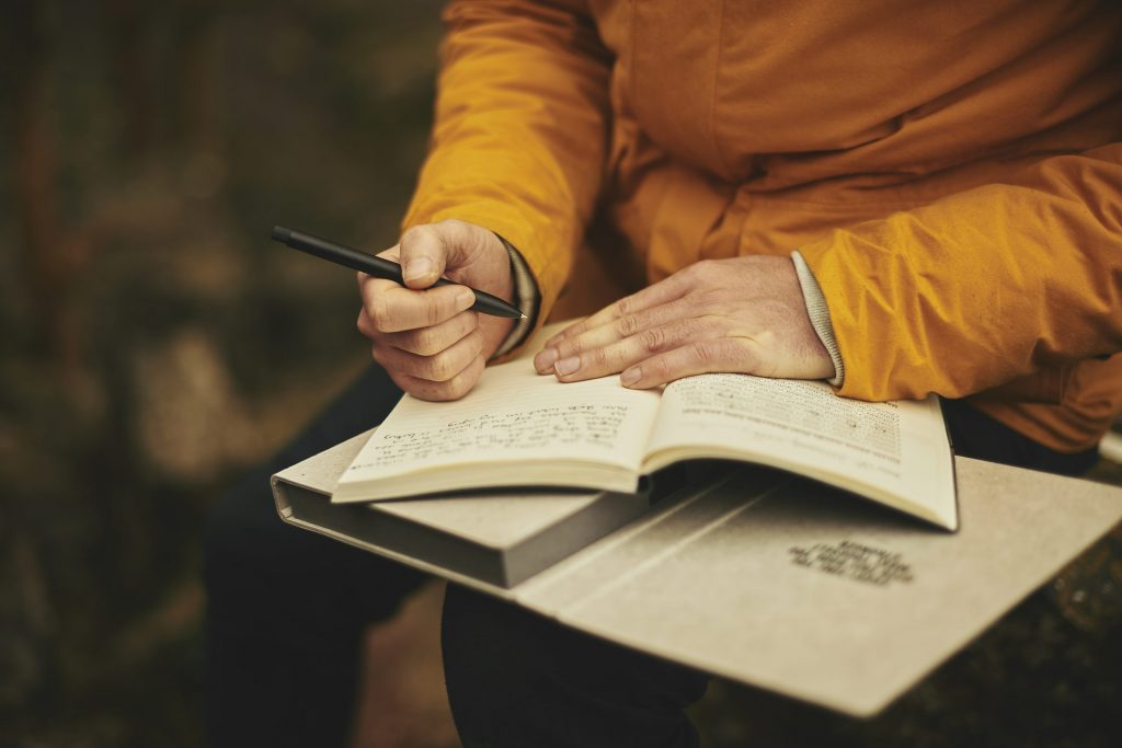 writing in a daily journal for men