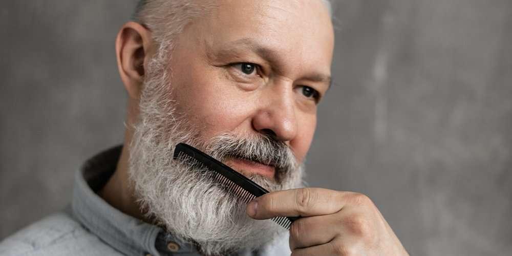 a man's beard hurts when combing it